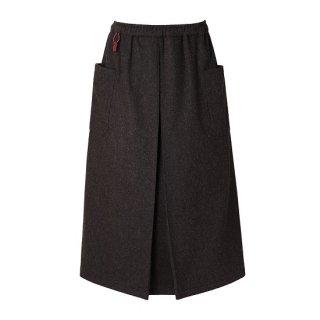 凌 ハカマスカート wool 桧皮色(ヒワダイロ)