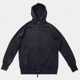 Merino Full Zip Hoody Navy