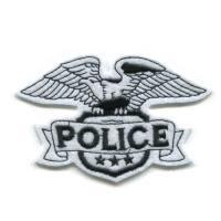 輸入ワッペン〔170-police-eagle 白〕