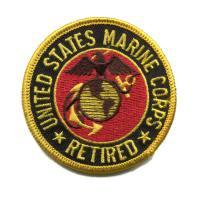 輸入ワッペン〔516-Marine Corps-retired〕