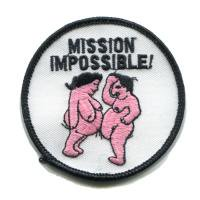 輸入ワッペン〔186-MISSION IMPOSSIBLE!〕