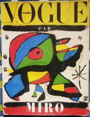 ジョアン・ミロ 編集 1979年 Joan Miro<br>「VOGUE PARIS」クリスマス号