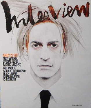 「interview」アンディ・ウォーホル 生誕80周年記念号 マーク・ジェイコブス
