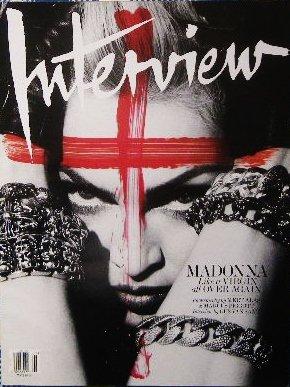 「interview」 カウズ KAWS 特集マドンナ Madonna 表紙