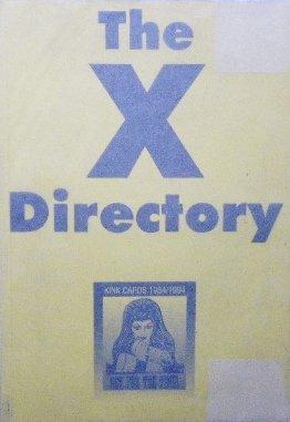 ロンドン 売春婦カード「The X Directory」電話ボックス・チラシ