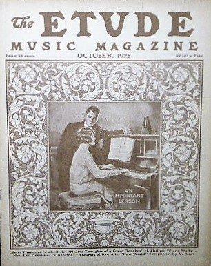 1925年 「The Etude」 ピアノレッスン/イシドール・フィリップ