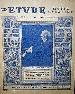 1925年 「The Etude」 テオドル・レシェティツキ/アレクサンダー・ブライロフスキー