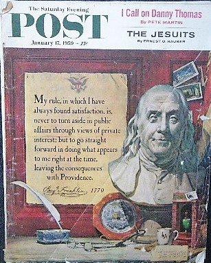 1959年 「The Saturday Evening Post」ベンジャミン・フランクリン
