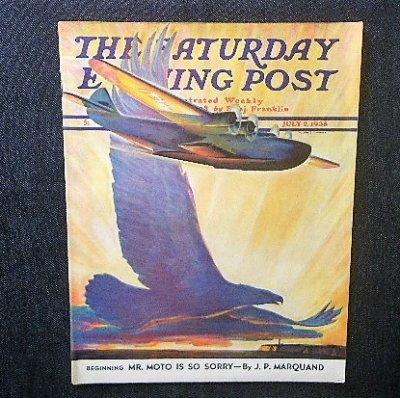 <img class='new_mark_img1' src='https://img.shop-pro.jp/img/new/icons1.gif' style='border:none;display:inline;margin:0px;padding:0px;width:auto;' />1938年 「The Saturday Evening Post」 William Heaslip 飛行艇