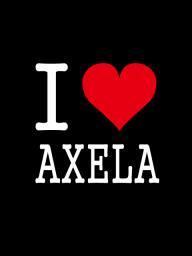 I LOVE AXELA ステッカー
