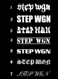 STEPWGN 2枚1セット  #22 ステッカー