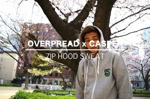 OVERPREADxCASPER  ZIP HOOD SWEAT