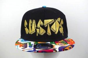 SUSTOS 'MIZYU' ethnic snapback CAP【BLK】
