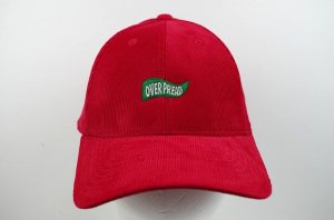 OVERPREAD flaglogo corduroy CAP【RED】