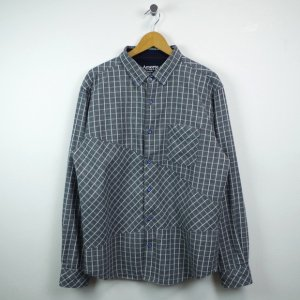 SELECT check SHIRT【GRY】
