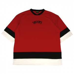 <img class='new_mark_img1' src='//img.shop-pro.jp/img/new/icons14.gif' style='border:none;display:inline;margin:0px;padding:0px;width:auto;' />SUSTOS MIC hockey SHIRT【RED】