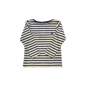 [kid's]Campion border L/S Tee[nav]
