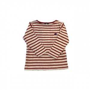 [kid's]Campion border L/S Tee[red]