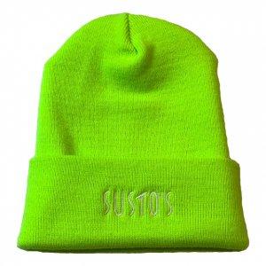 SUSTOS mic knit cap【lim】