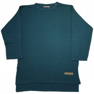 OVERPREAD waffle crew neck 7S[a.grn]