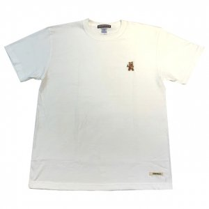OVERPREAD bear tee[wht]