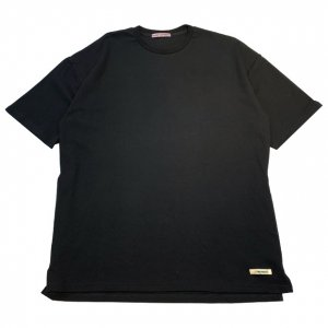 OVERPREAD side zip tee[blk]