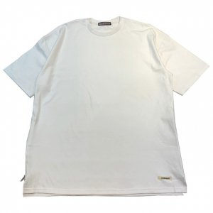 OVERPREAD side zip tee[wht]