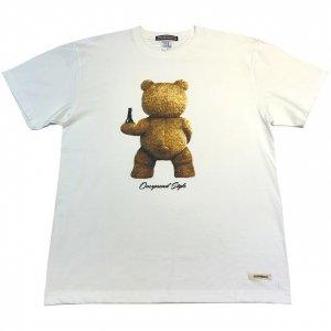 OVERPREAD bear s/s tee[wht]