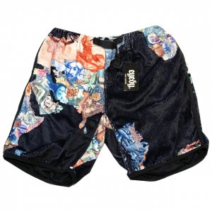 eyed paper boa short pants[blk]