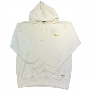 OVERPREAD vintage hood sweat[o.wht]
