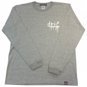 OVERPREAD drip l/s tee[gry]