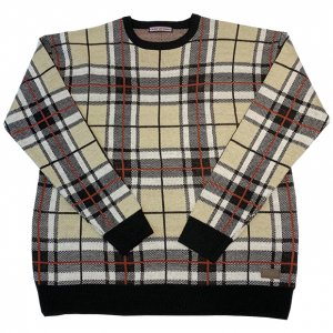 OVERPREAD check knit[bei]