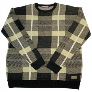 OVERPREAD check knit[blk]