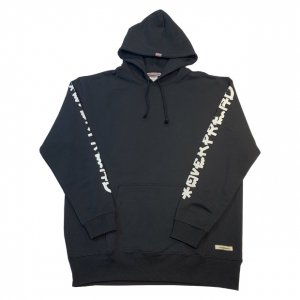 MIZYURO x OVERPREAD hood sweat[blk]