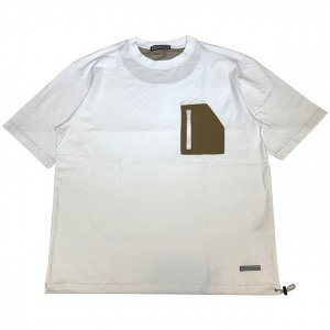 OVERPREAD Active pocket S/S Tee[wht]