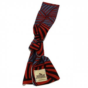 BROWN STYLEE summer scarf[red/gry]