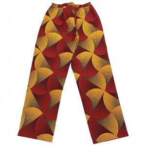 BROWN STYLEE easy big BOTTOMS[RED/YEL/BK]
