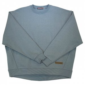 OVERPREAD heavy weight big crew SWEAT[b.gry]