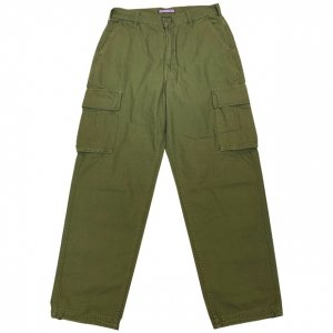 OVERPREAD twill cargo PANTS[oli]
