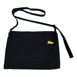 OVERPREAD canvas musette bag[blk]