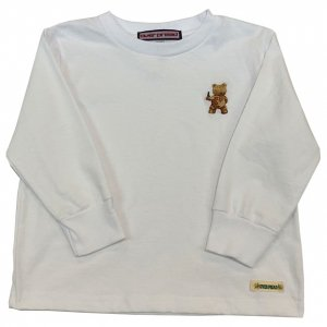 [kid's]OVERPREAD bear L/S Tee[wht]