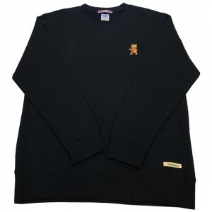 OVERPREAD bear crew sweat[blk]