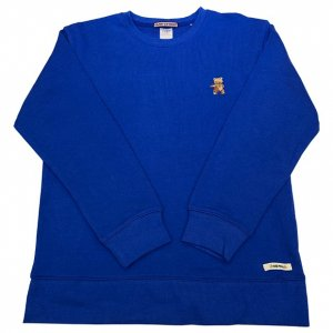OVERPREAD bear crew sweat[blu]