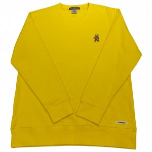 OVERPREAD bear crew sweat[yel]