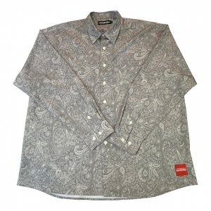 OVERPREAD paisley shirts[gry]