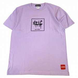 OVERPREAD drip square S/S Tee[l.pur]