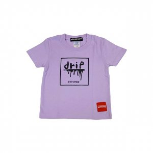 [kids]OVERPREAD drip square S/S Tee[l.pur]