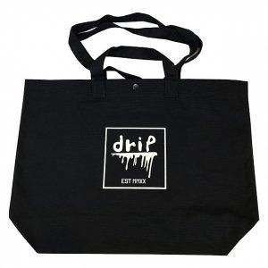 OVERPREAD drip canvas 2way tote bag[blk]
