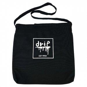 OVERPREAD drip canvas 2way shoulder bag[blk]