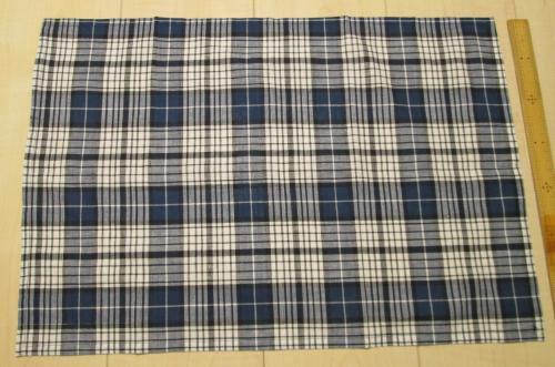 綿ランチョンマット52.5×36【紺色タータンチェックやわらか素材】